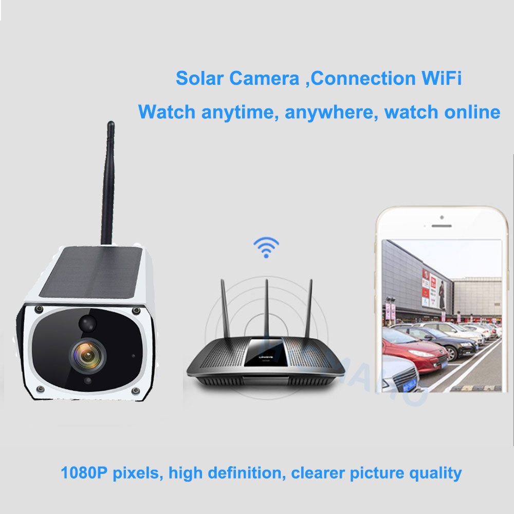 Solar Camera Connect With WiFi Anywhere