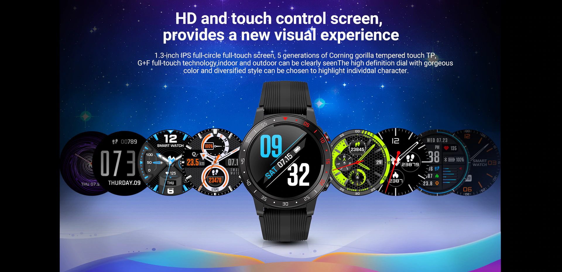 HD & Touch Control Screen Of watch