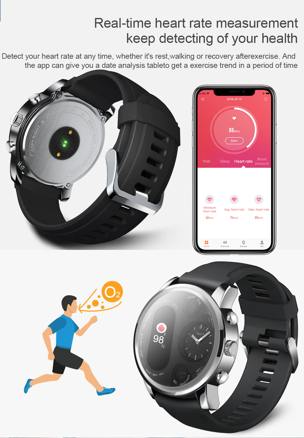 Heart Rate Meaures Of Smart Watch