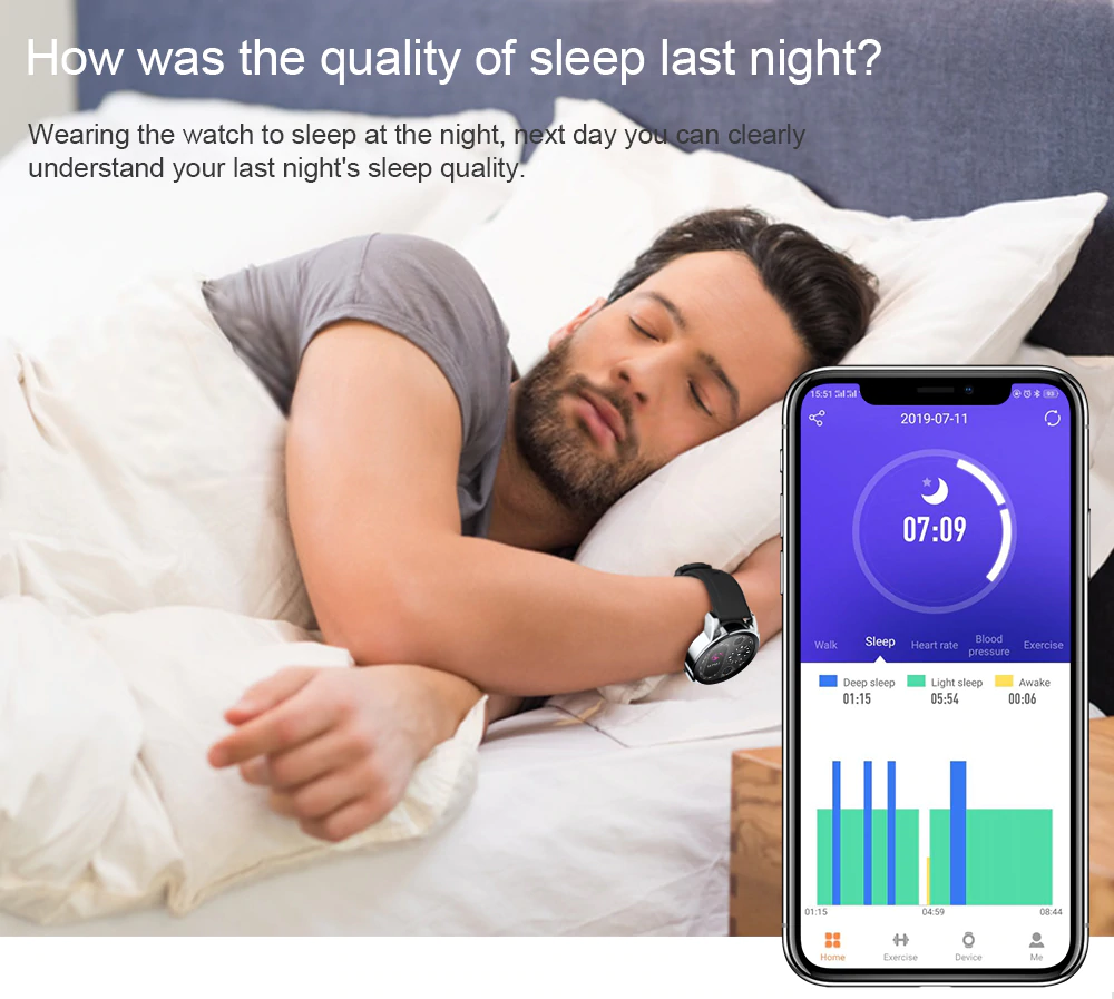 Record Sleep By Smart Watch