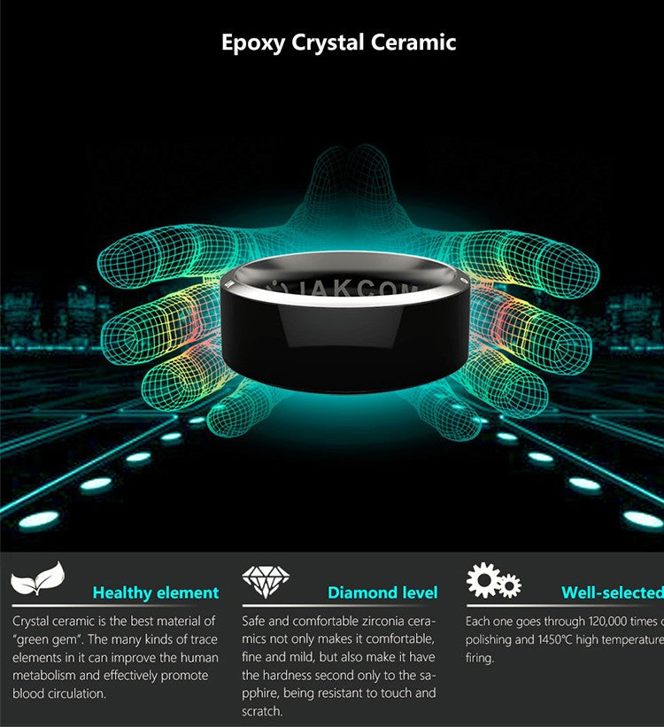 Crystal Ceramic in Smart Ring