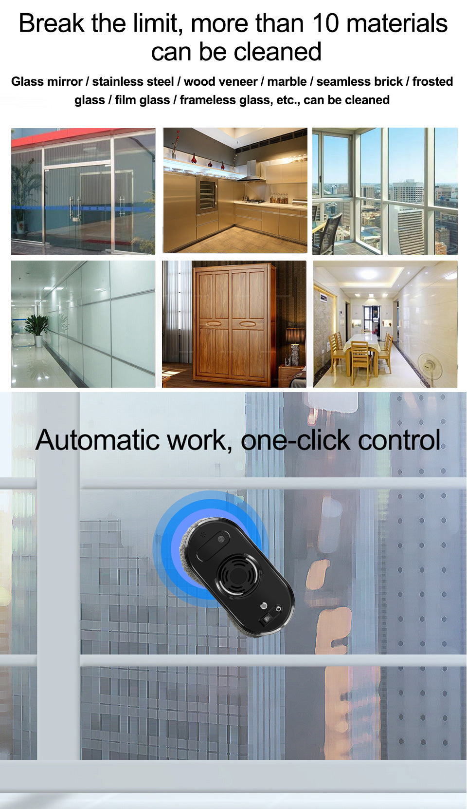 Automatic Window Robot Cleaner