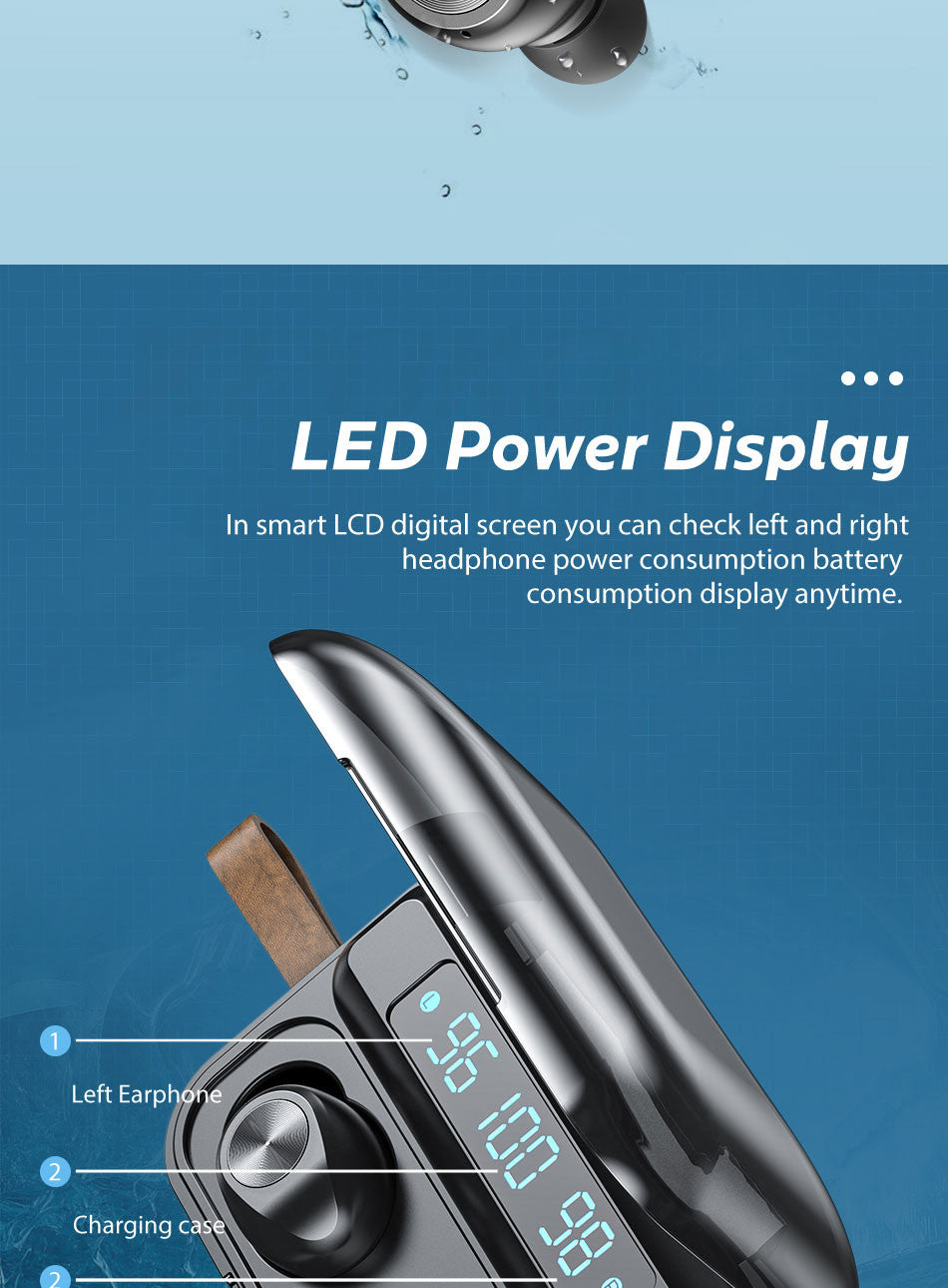 Headphones Power Checking Smart LCD Screen
