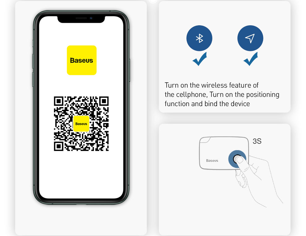 Wireless Connection with Phone Of Key Finder-Tracker
