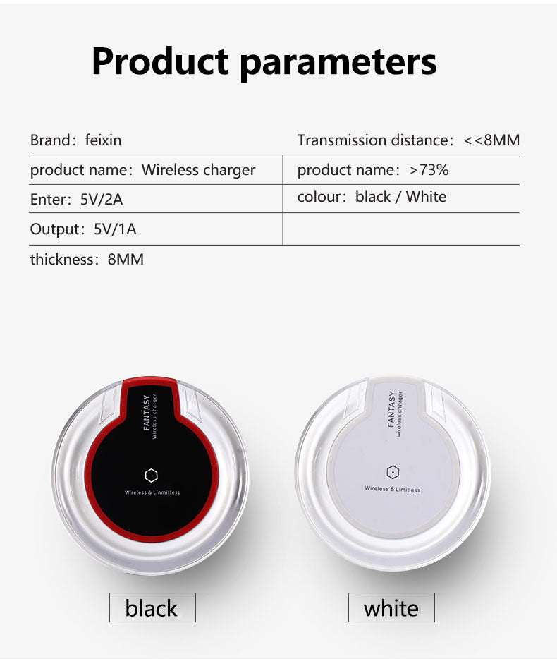 product parameters | wireless charger