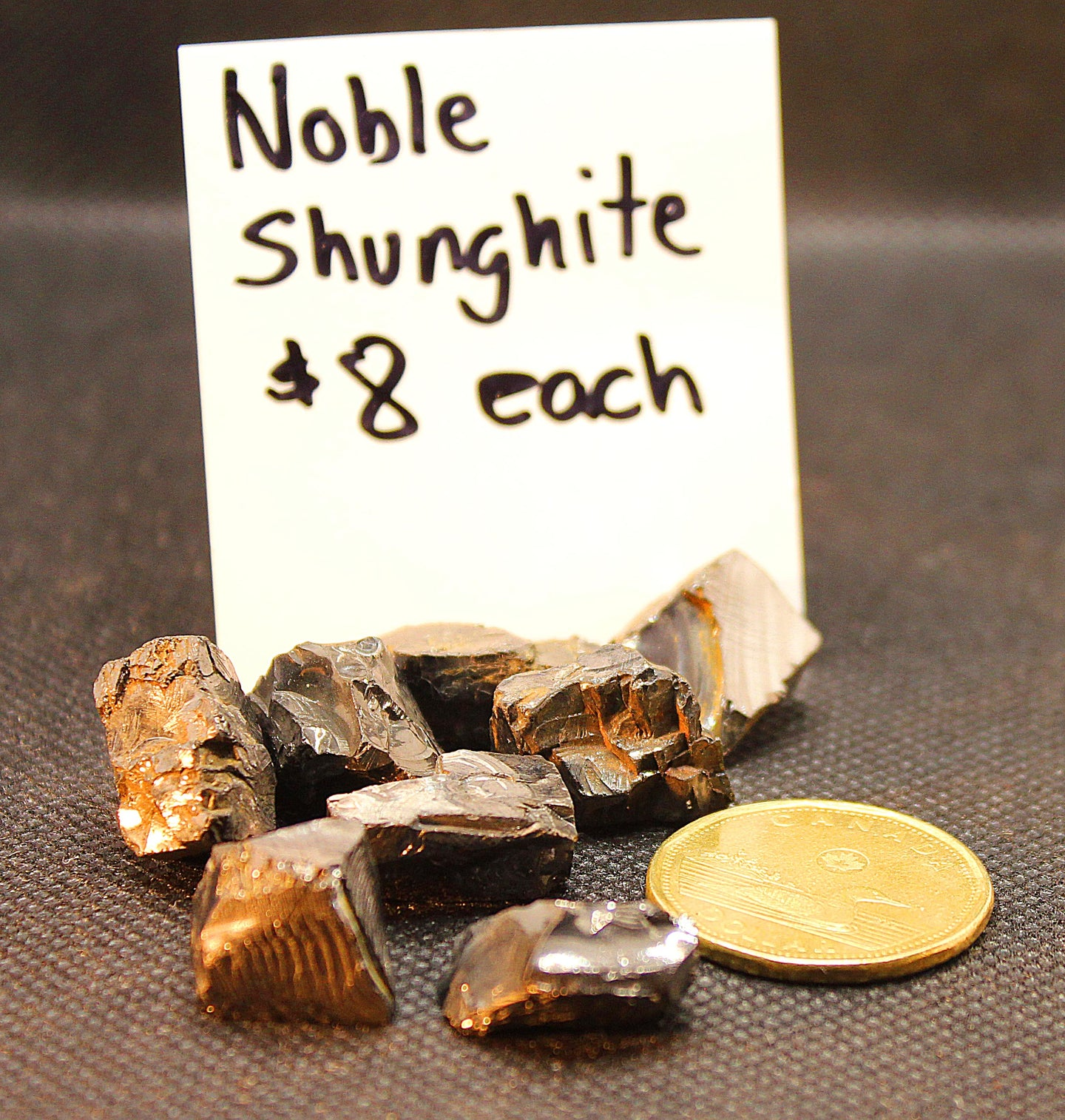 Noble shunghite nuggets 12mm for water elixir