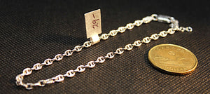 Anklet in Italian sterling 2.3mm wide fat Gucchi style link