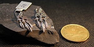 Sterling silver tree of life dream catcher earrings