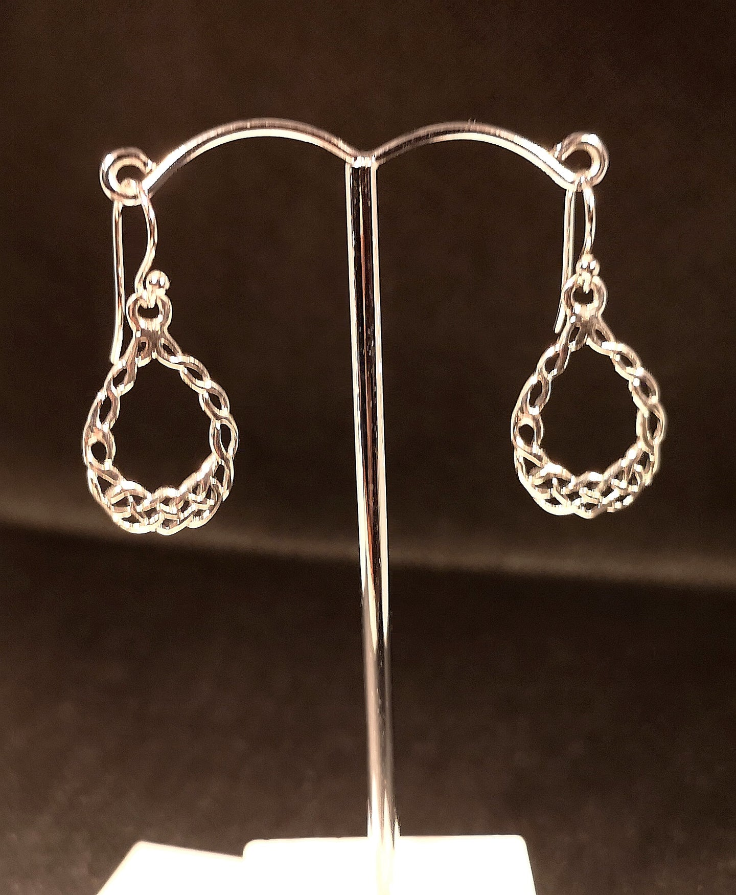 sterling silver earrings with Celtic design