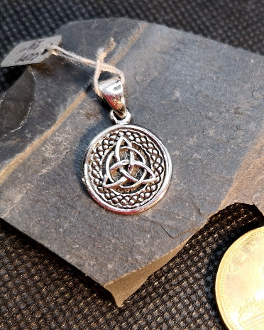 Sterling silver Celtic pendant, trinity knot