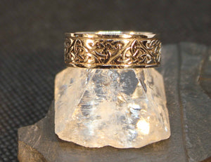 Sterling silver men's Celtic band