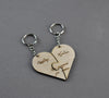 Valentine small box keychain heart