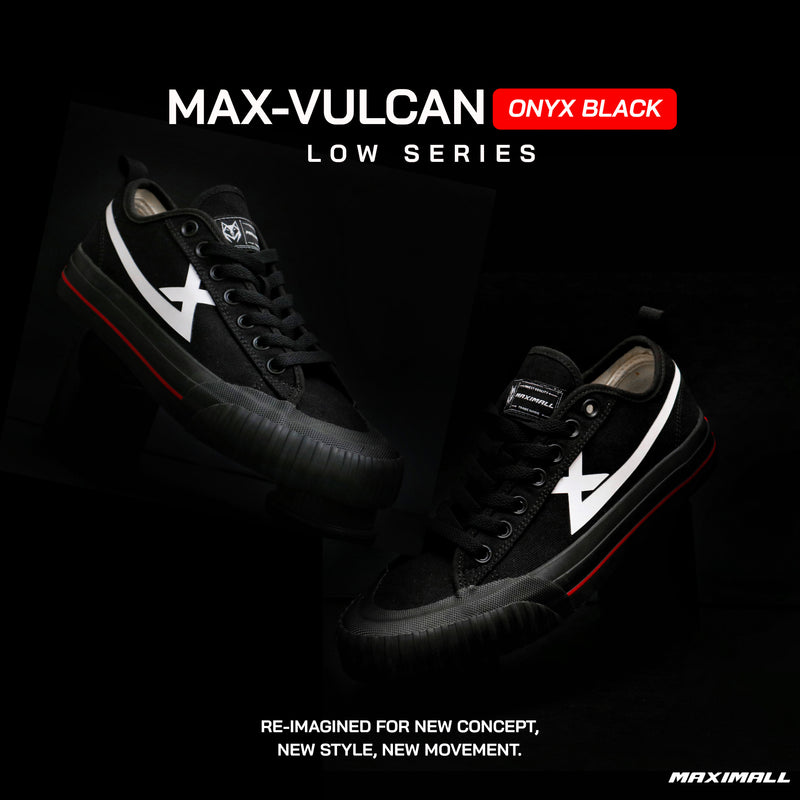 Maximall Max-Vulcan Onyx Black Low Cut Series