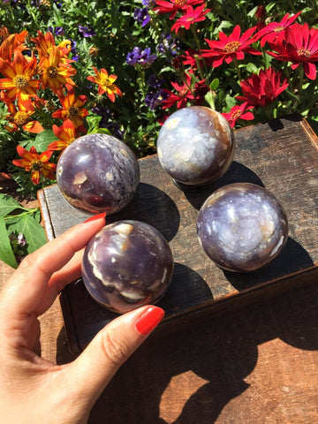 Rare Purple Chalcedony Sphere