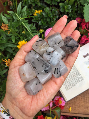 Tourmalinated Quartz cubes