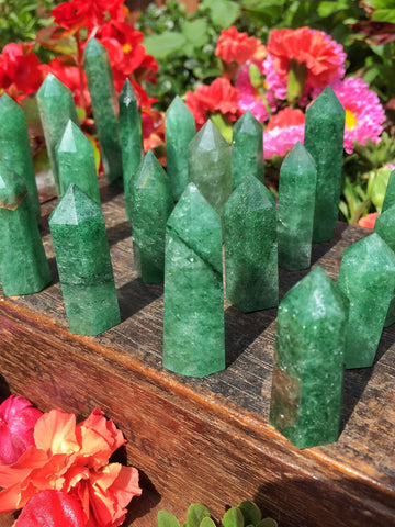 Green Strawberry quartz points