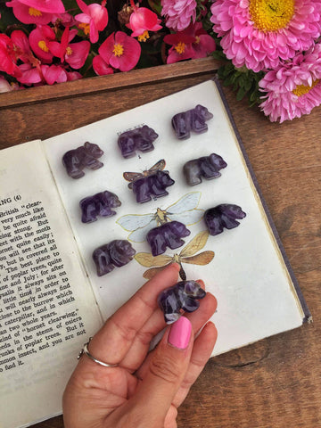Mini Amethyst bears