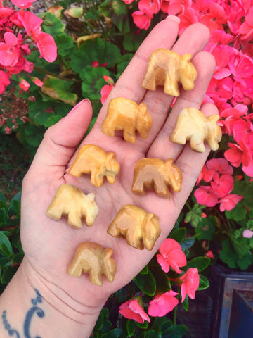 Mini yellow aventurine bears