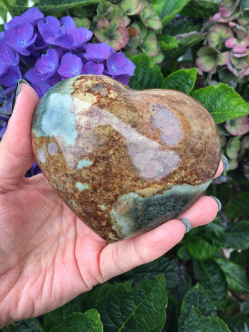 Large polychrome jasper heart