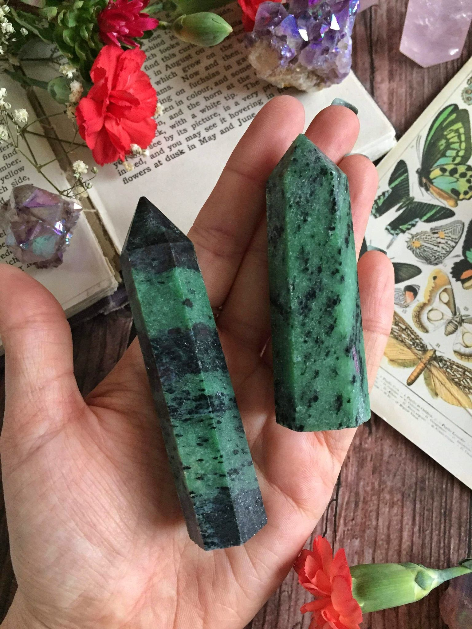 Zoisite points