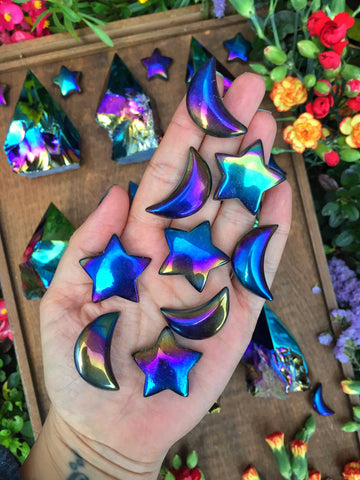 Aura obsidian moon and stars