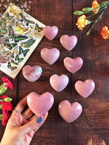 Pink opal hearts