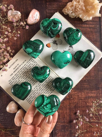 Malachite hearts