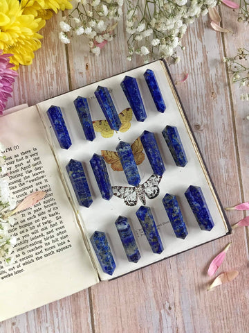 Mini Double Terminated Lapis points
