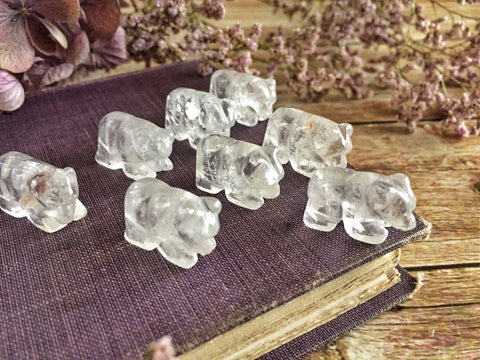 Mini quartz polar bears