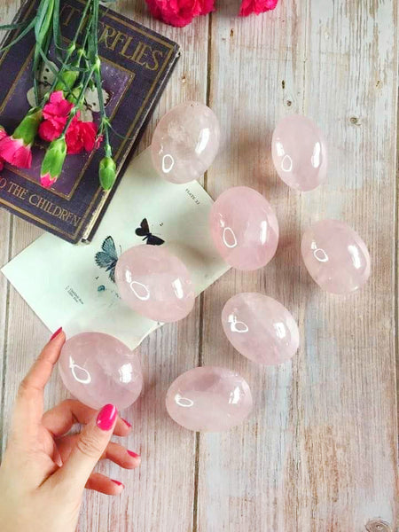 Large chunky Rose Quartz palm stone