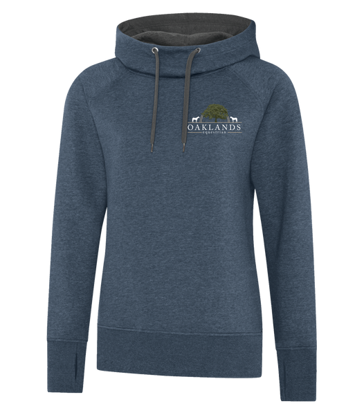 Oaklands Equestrian Funnel Neck Ladies Hoodie