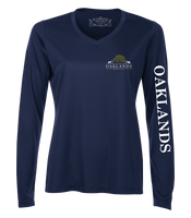 Oaklands Equestrian Long Sleeve V-Neck DriFit Tshirt
