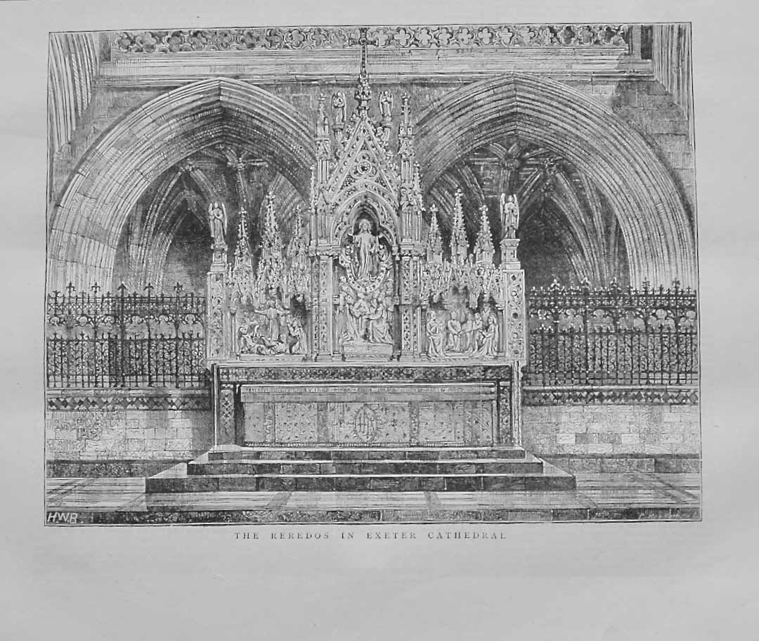 The Reredos in Exeter Cathedral, 1874