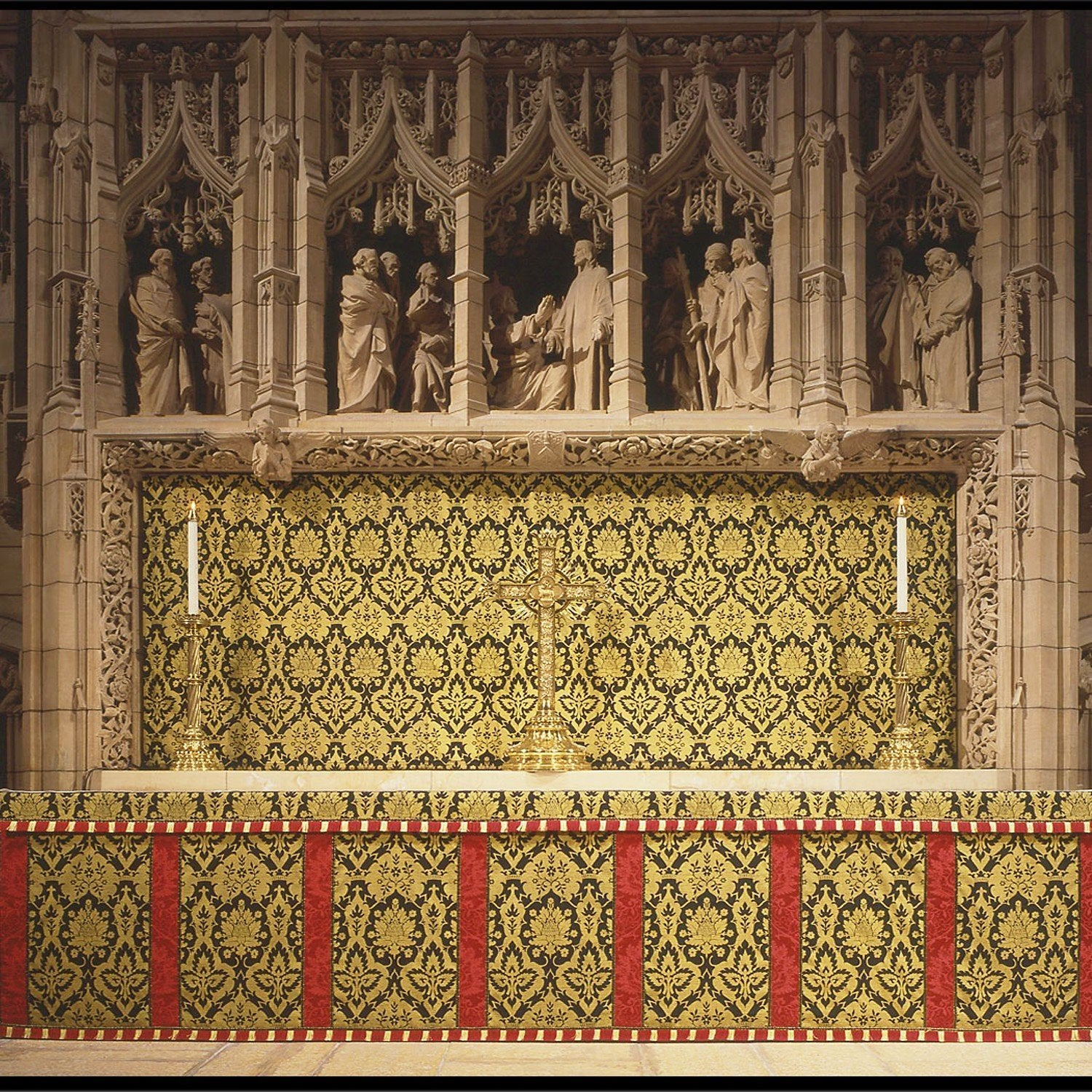 Altar Frontal & Superfrontal in Black/Gold Van der Weyden - Watts & Co. (international)