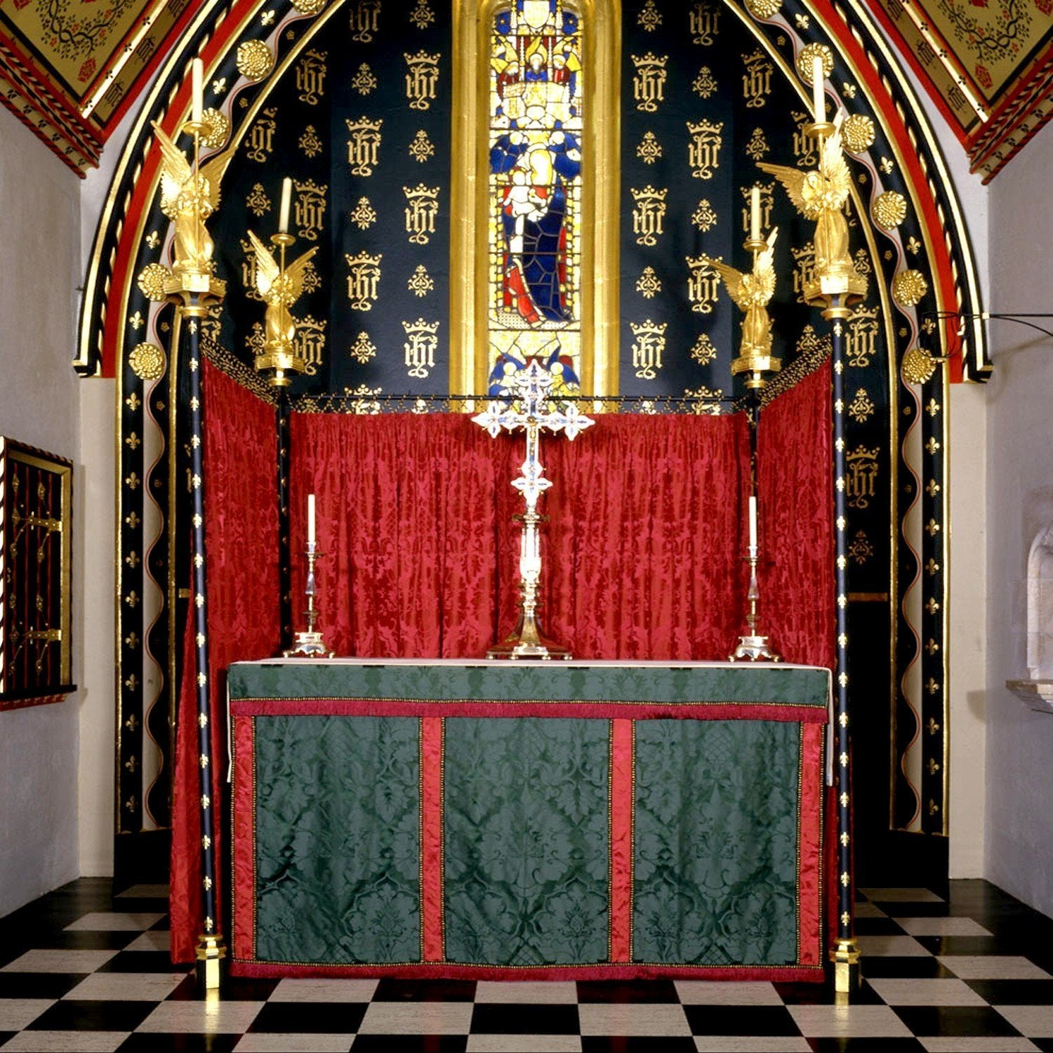 Altar Frontal & Superfrontal in Green Bellini - Watts & Co. (international)