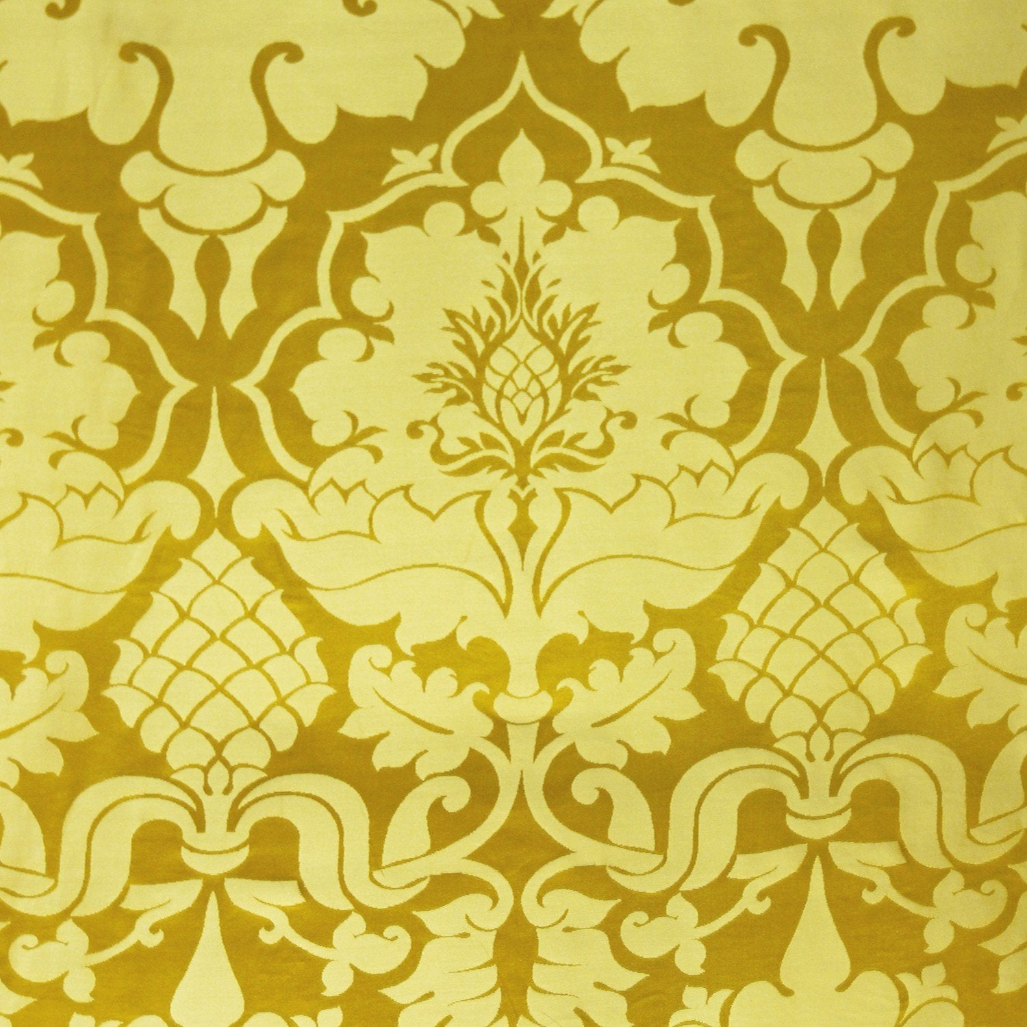 Bellini Silk Damask - Imperial Yellow - Watts & Co. (international)