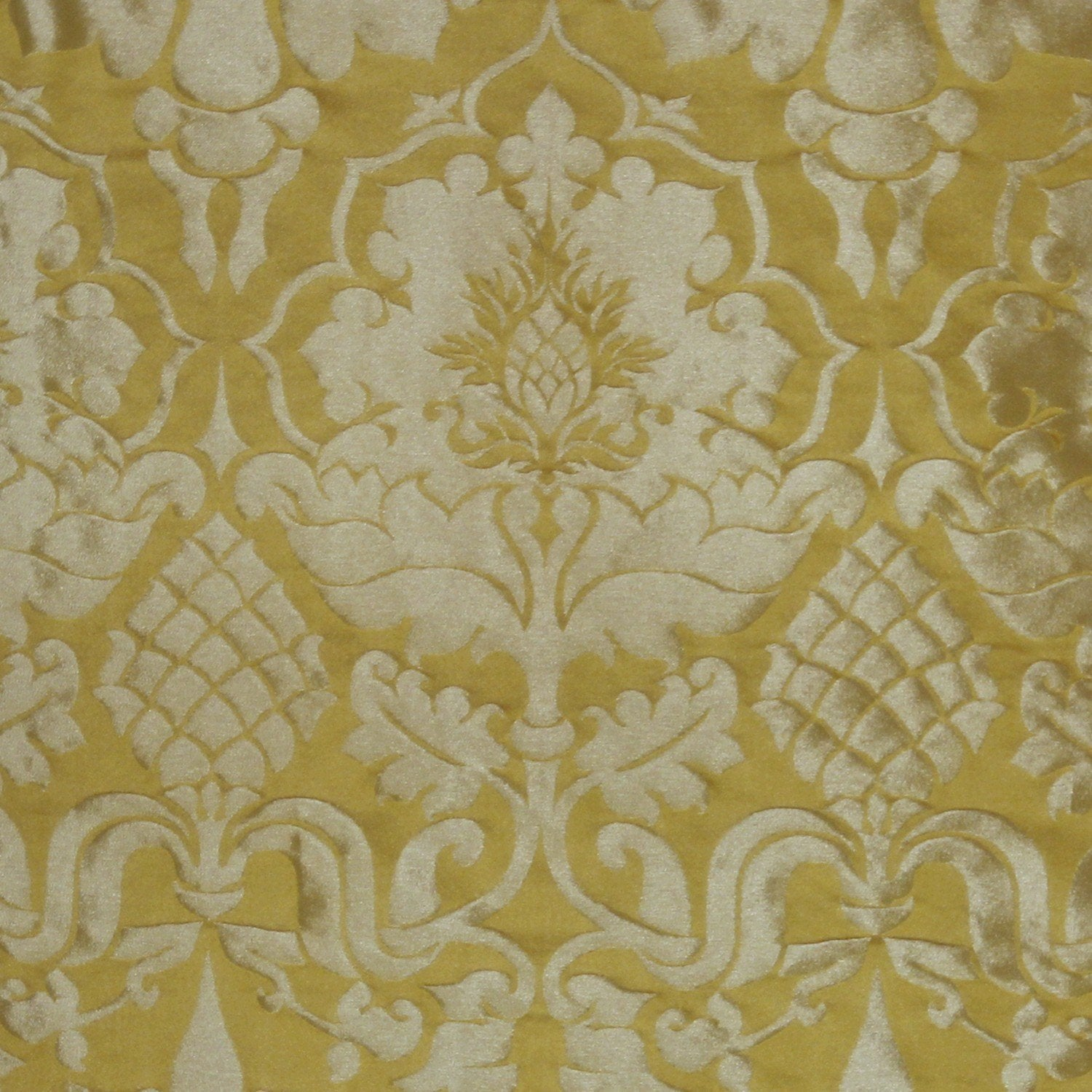 Bellini Silk Damask - Imperial Yellow & Gilt - Watts & Co. (international)