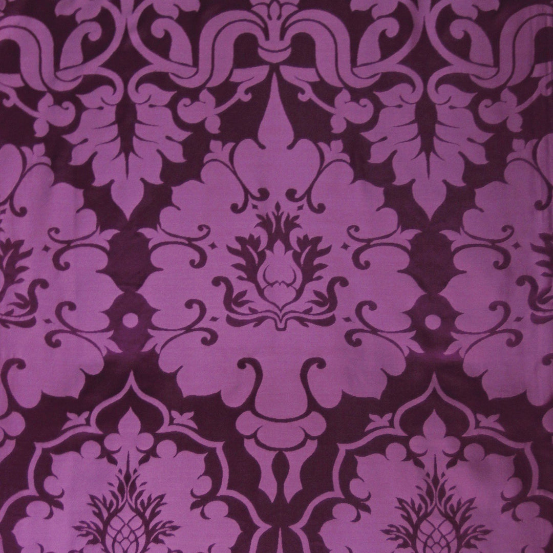 Bellini Silk Damask - Purple - Watts & Co. (international)