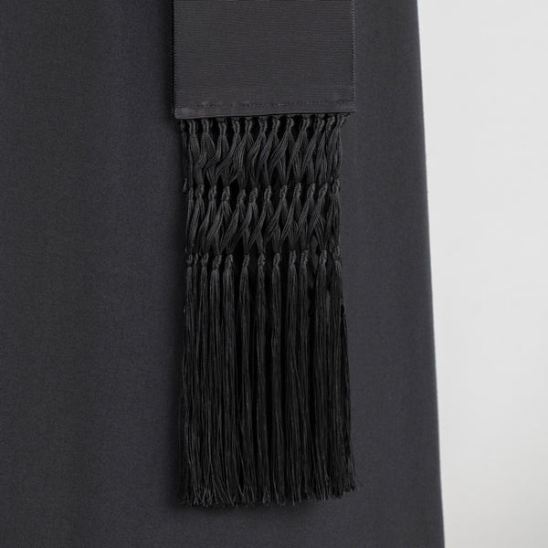 Black Grosgrain Cincture with Falls - Watts & Co. (international)