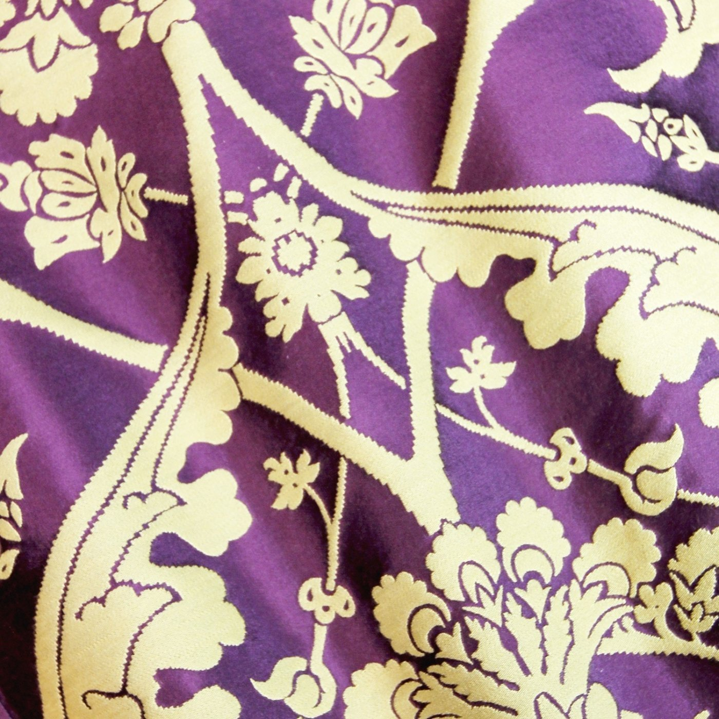 Cathedral Cope in Purple Gainford with Purple Velvet Orphreys - Watts & Co. (international)
