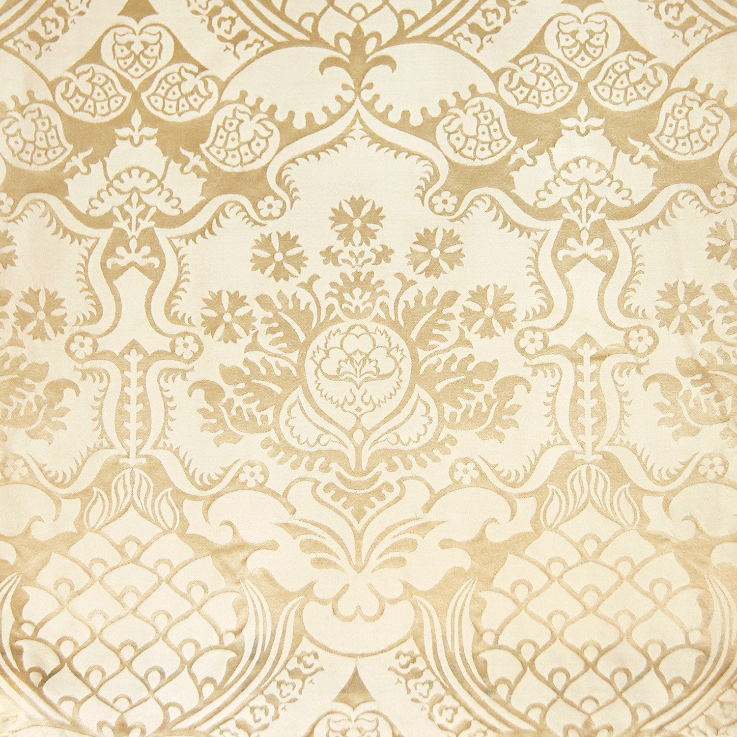 Comper Cathedral Silk Damask - Cream - Watts & Co. (international)