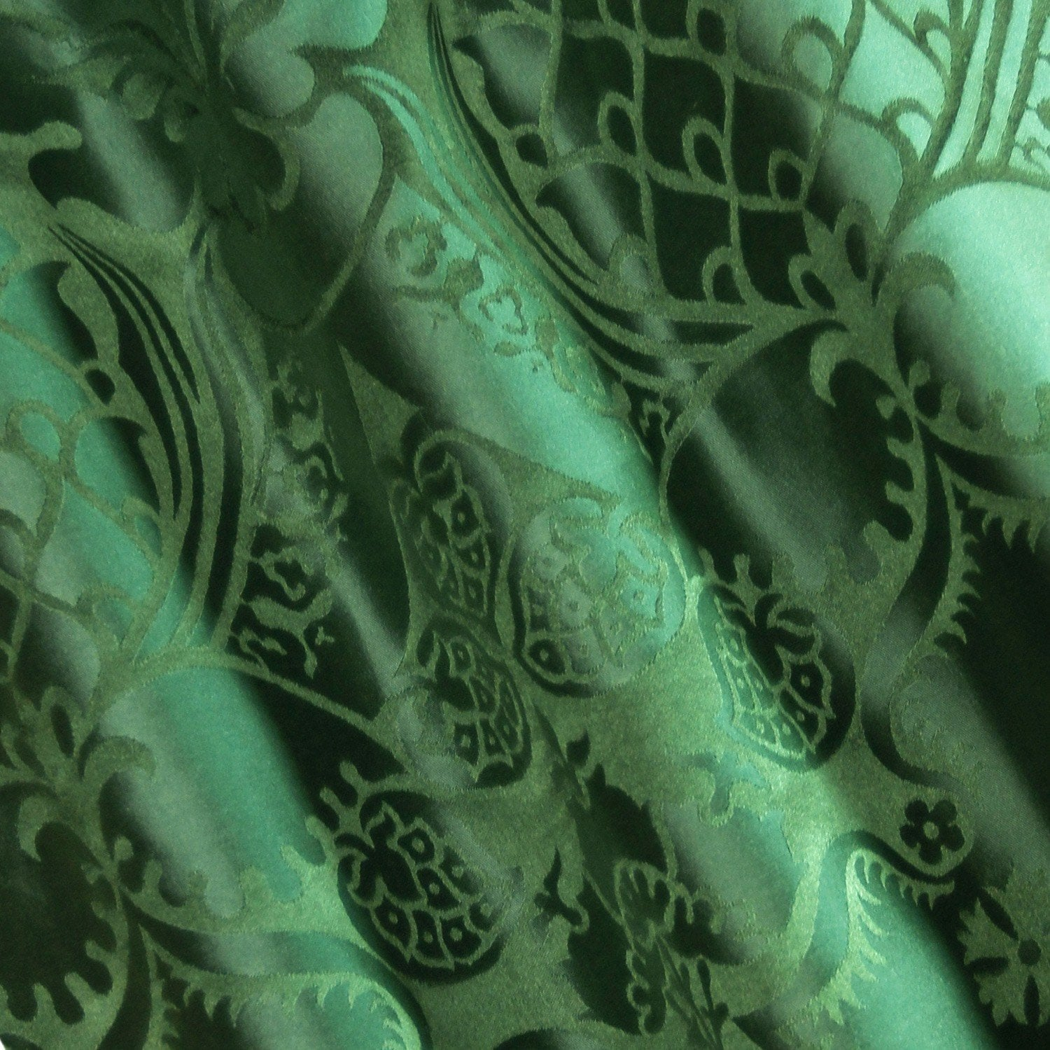 Comper Cathedral Silk Damask - Green - Watts & Co. (international)