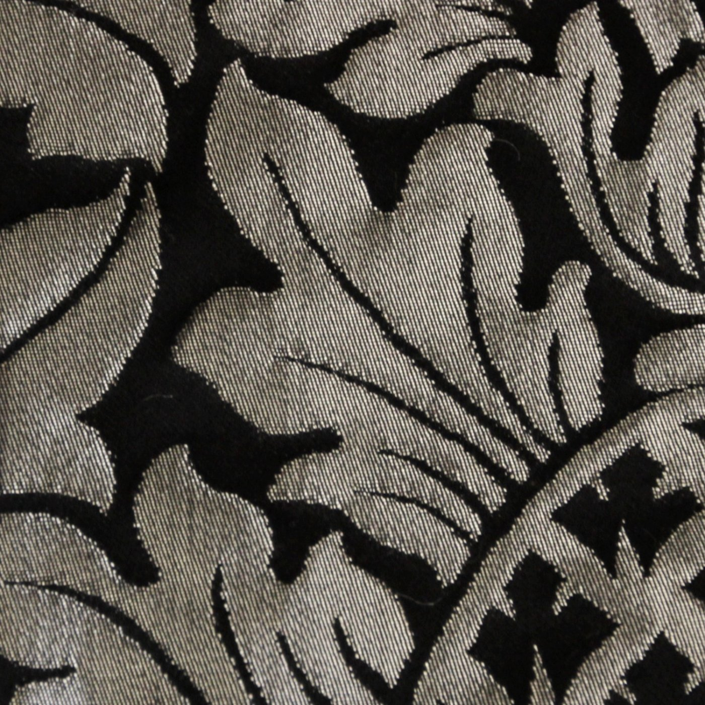 Continental Stole in Black & Silver Fairford Brocade - Watts & Co. (international)