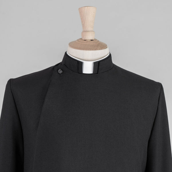 Double Breasted Minister Cassock<br>Midweight Pure Wool (Barathea) - Watts & Co. (international)