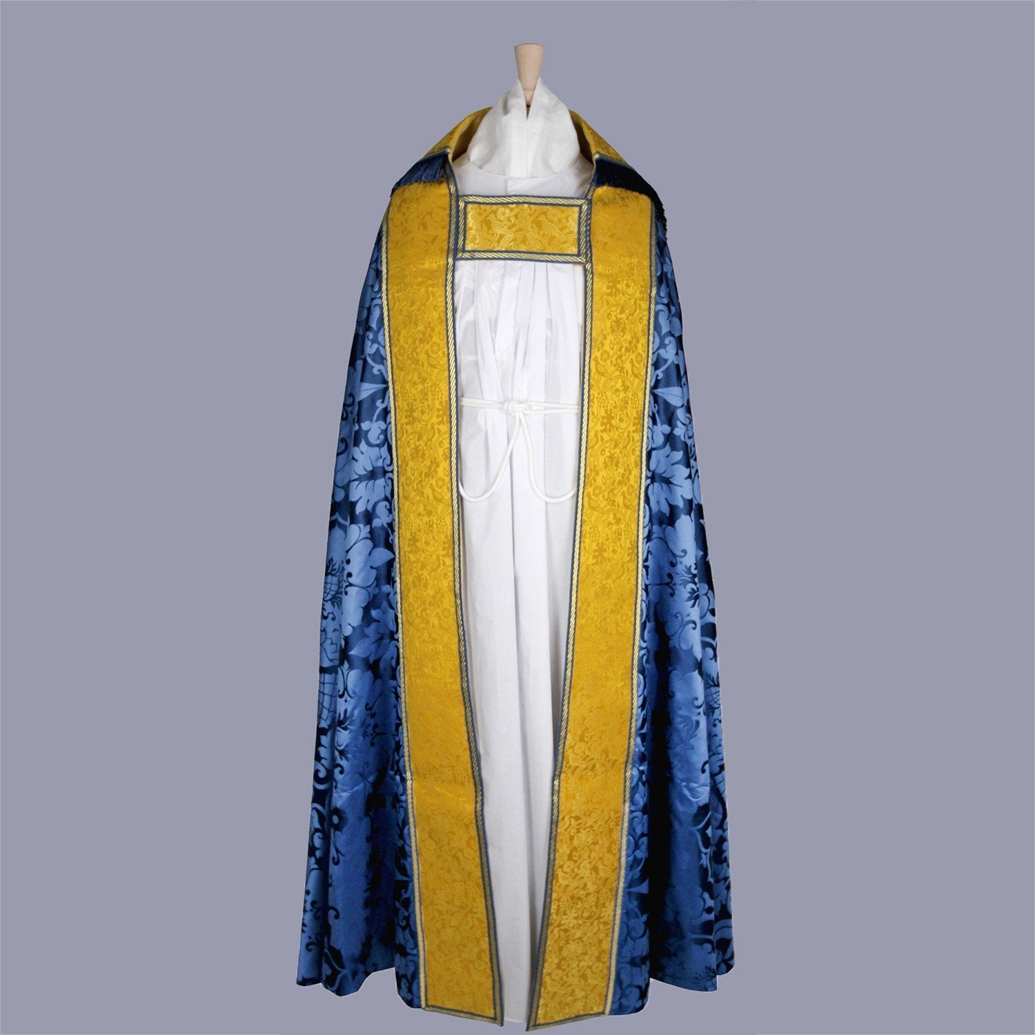 Embroidered Cathedral Cope in Blue Bellini - Watts & Co. (international)