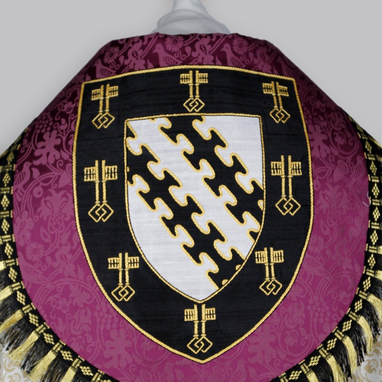 Embroidered Cathedral Cope in Oyster Hilliard - Watts & Co. (international)