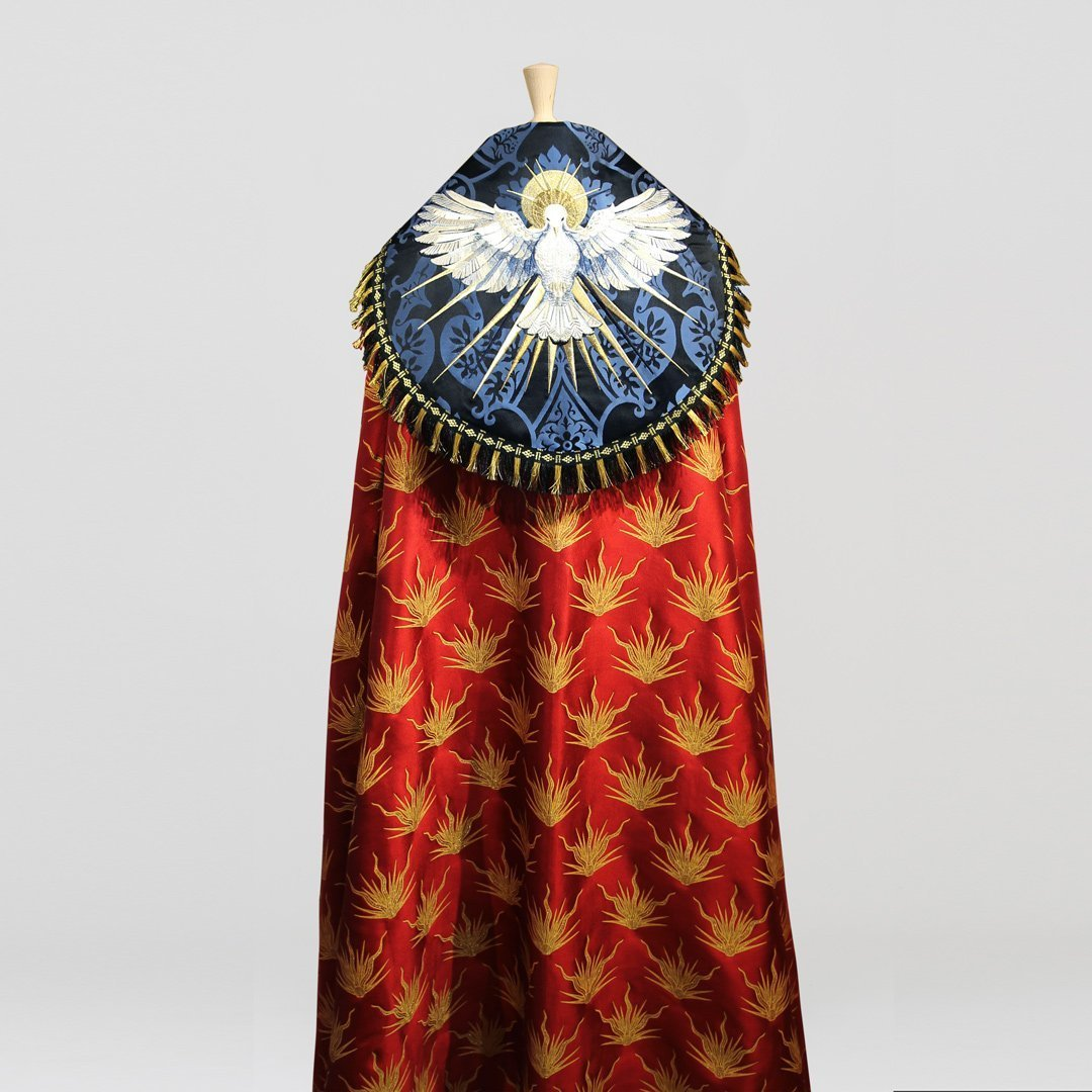 Embroidered Dove Cope in Red Pentecost Brocade - Watts & Co. (international)