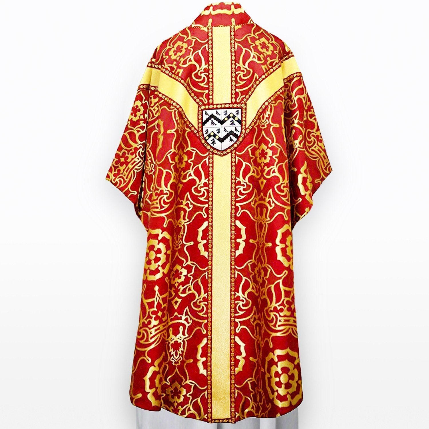 Embroidered Full Gothic Chasuble in Red & Gold Coronation - Watts & Co. (international)