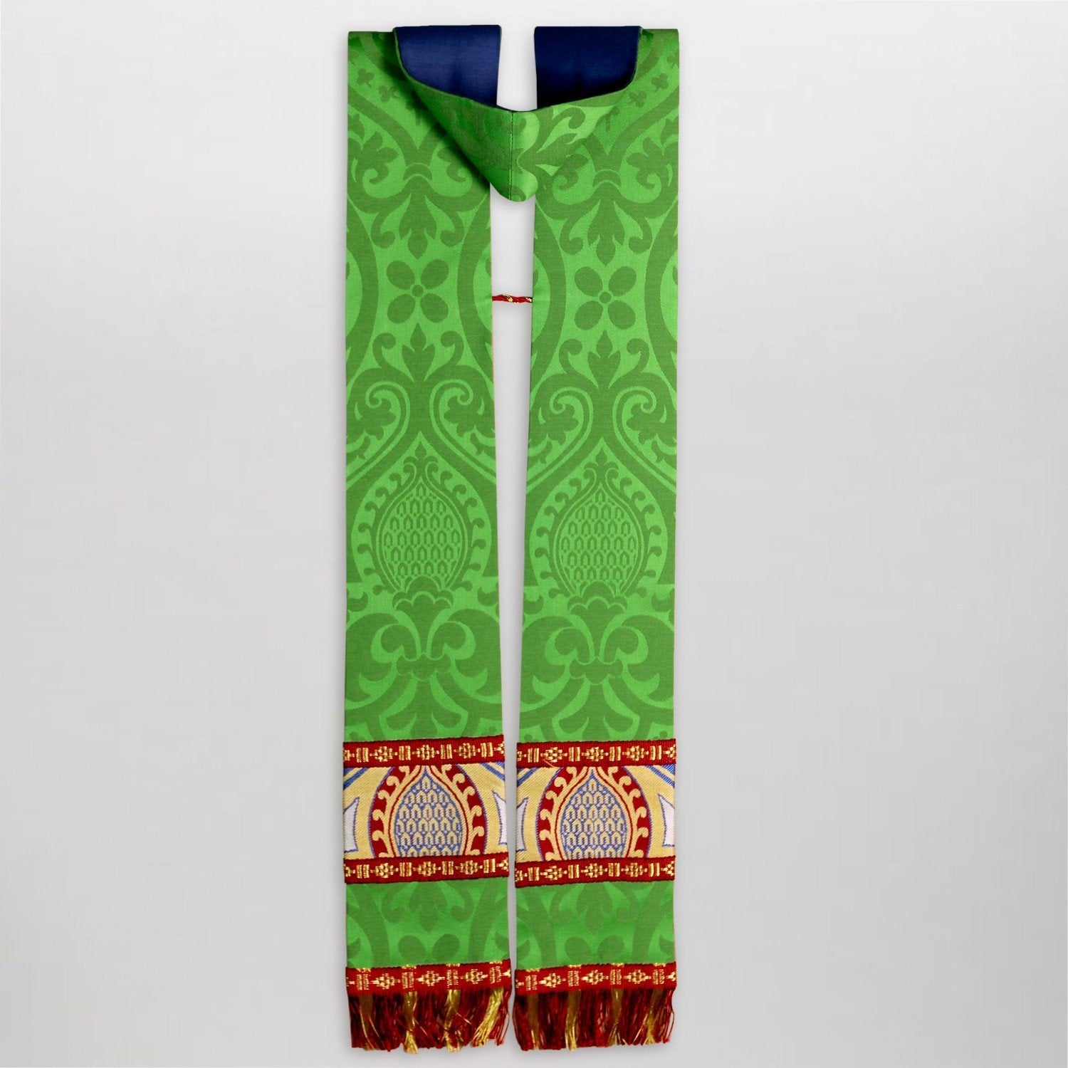 Full Gothic Chasuble in Green Alton - Watts & Co. (international)