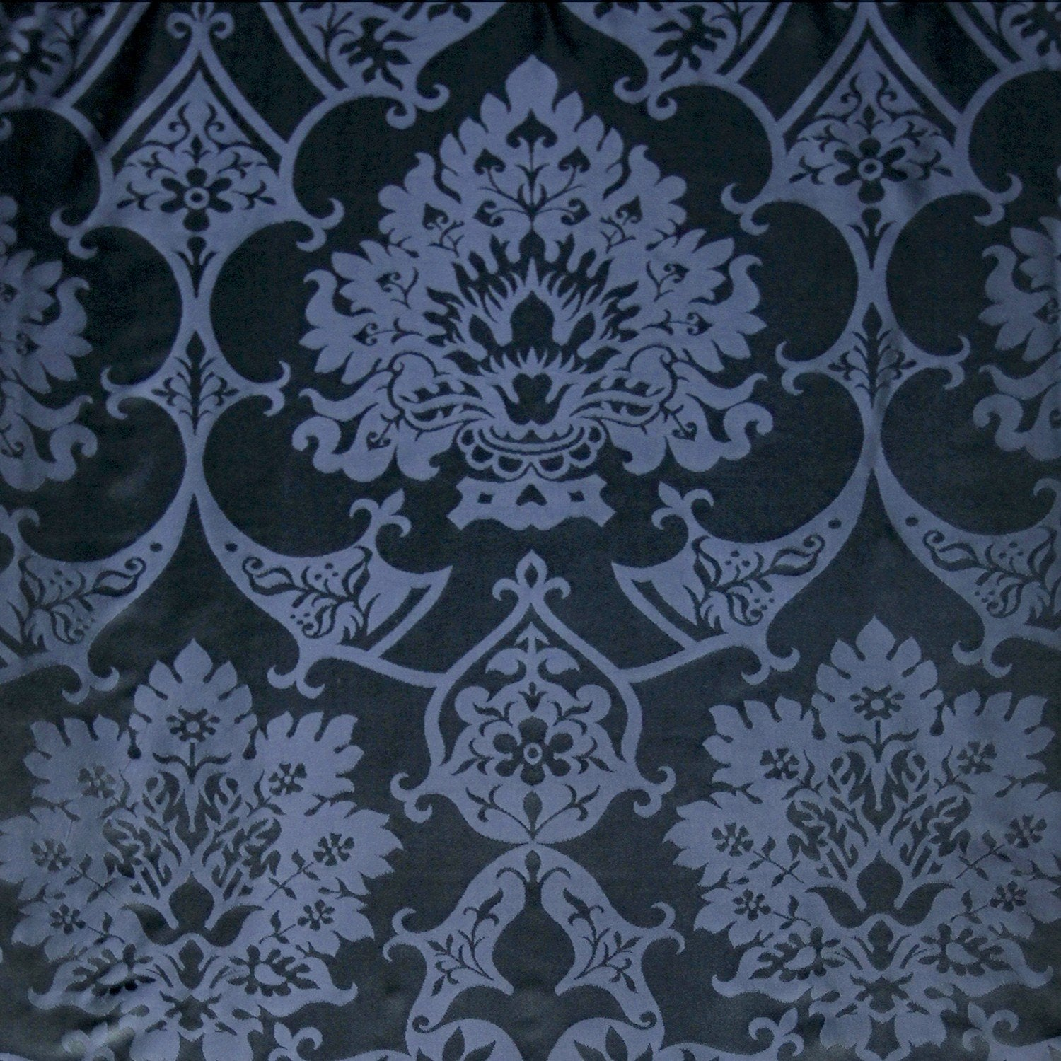 Gothic Silk Damask - Sarum Indigo - Watts & Co. (international)
